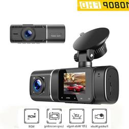 TOGUARD Uber Dual Dash Cam 1080P Front and 720P Inside Cabin