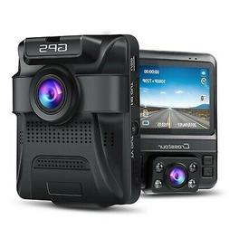 Uber Dual Lens Dash Cam Built-in GPS in Car Dashboard Camera