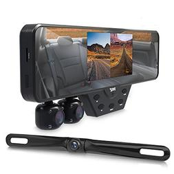 Upgraded 2018 Dashcam Backup Car Camera - Rear View Mirror C