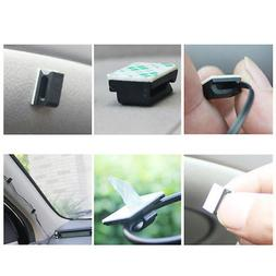 US 30pcs Wire Tie Cable Clamp Clip Holder For Car Dash Camer