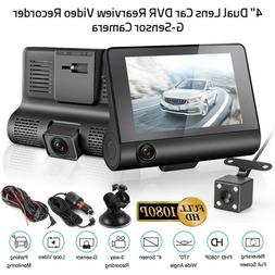 """US 4"""" Car DVR Dash Cam Vehicle Video Recorder Rearview Camer"""