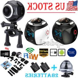US STOCK 360° Wifi 4K HD Ultra Panoramic Sport Camera Actio