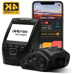 "Rexing V1 4K Ultra HD Dash Cam 2.4"" LCD Screen, Wi-Fi, GPS,"