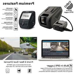 Rexing V1Lg Dual Channel Car Dash Cam Fhd 1080P 170° Wide A
