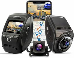 REXING V1P MAX 4K UHD Dual Channel Dash CAM, 3840X2160 Front