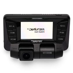 REXING V2 Dash Cam Dual Channel Both 1080P Full HD 170 Degre