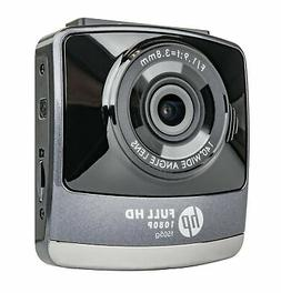 HP 1080p Wide Angle Dash Cam w/Lane Departure Warning, Fwd C
