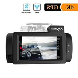 WIFI Car Dash Cam 4K with GPS, Anytek Touch Screen Dashboard