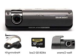 Thinkware F770 1080P HD WiFi Dash Camera with Rearview Camer