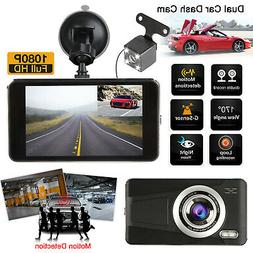 Dual Lens Dash Cam GPS Camera HD 1080P Front and Inside Car