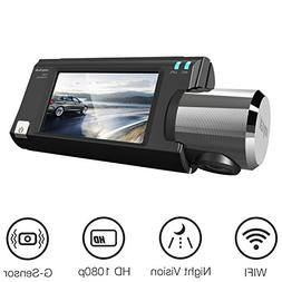 WIFI Dash Cam, ANYTEK Dashboard Camera Recorder HD 1080P Car