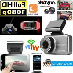WIFI Dual HD 1080P Car DVR Dash Cam Vehicle Rear Camera Vide