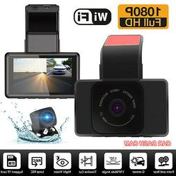 WIFI G-sensor Car Camera Dual Dash Cam Front and Rear Night