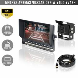 "WIRED HEAVY DUTY 720P BACKUP CAMERA SYSTEM WITH 7"" LCD!"