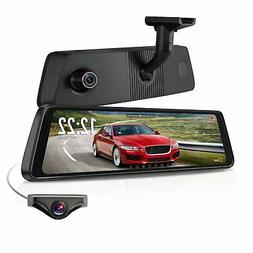 "X1PRO Rear View Mirror Dash Cam 9.88"" Full Touch Screen Du"