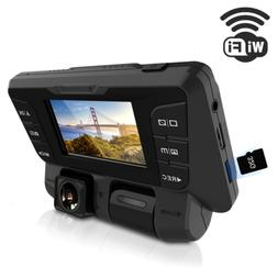 ITRUE X9D WiFi Dash Cam Rotatable Inner and Front Cameras Du
