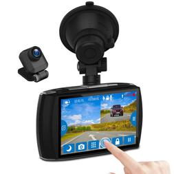 """Z-EDGE Dash Cam Front and Rear 4.0"""" Touch Screen Dual Dash C"""